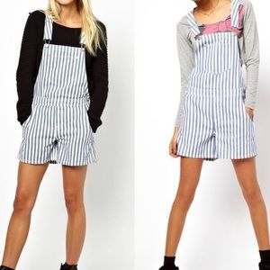 ASOS Candy Striped Short Overalls